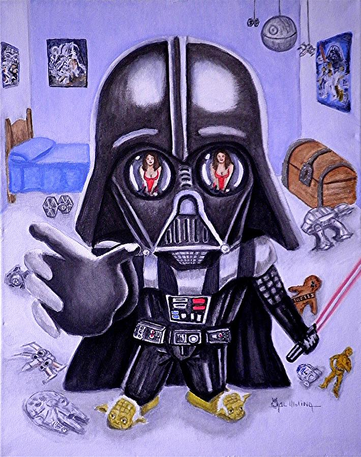 The Force Is Strong With This One Painting  - The Force Is Strong With This One Fine Art Print