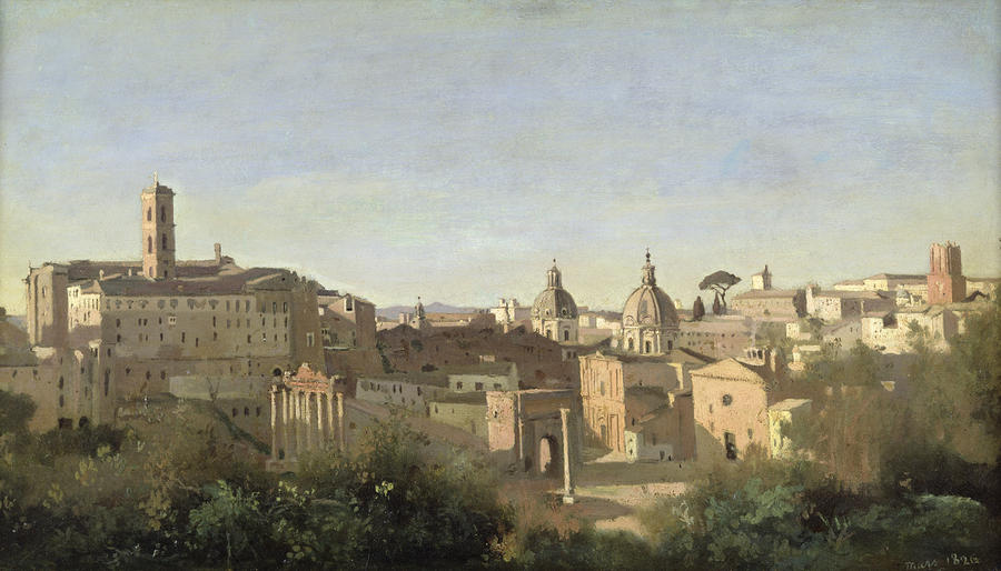 The Forum Seen From The Farnese Gardens Painting