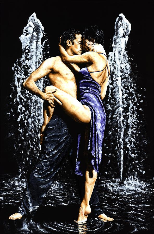 The Fountain Of Tango Painting  - The Fountain Of Tango Fine Art Print