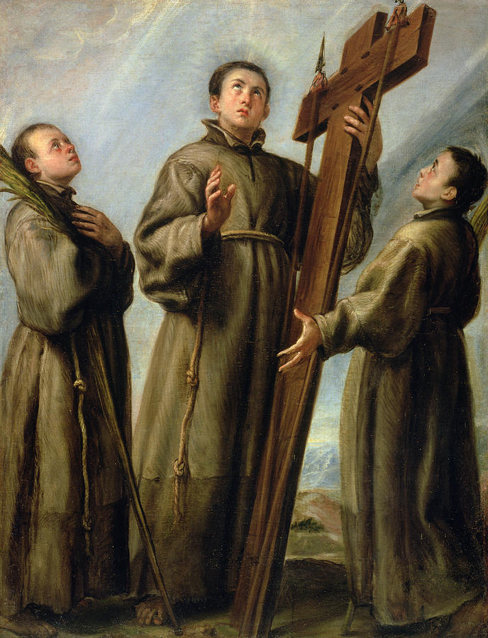 The Franciscan Martyrs In Japan Painting