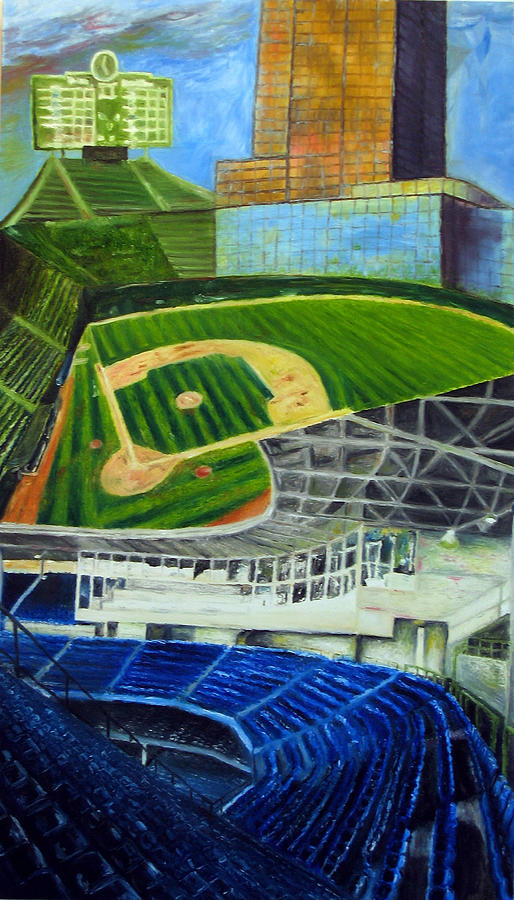 Wrigley Field Painting - The Friendly Confines by Chris Ripley
