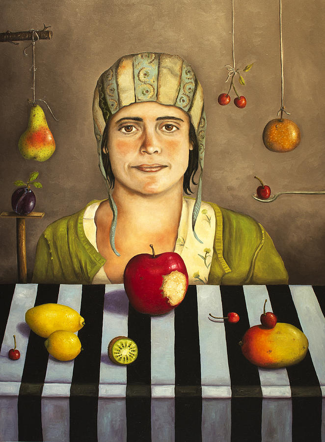 The Fruit Collector 2 Painting  - The Fruit Collector 2 Fine Art Print