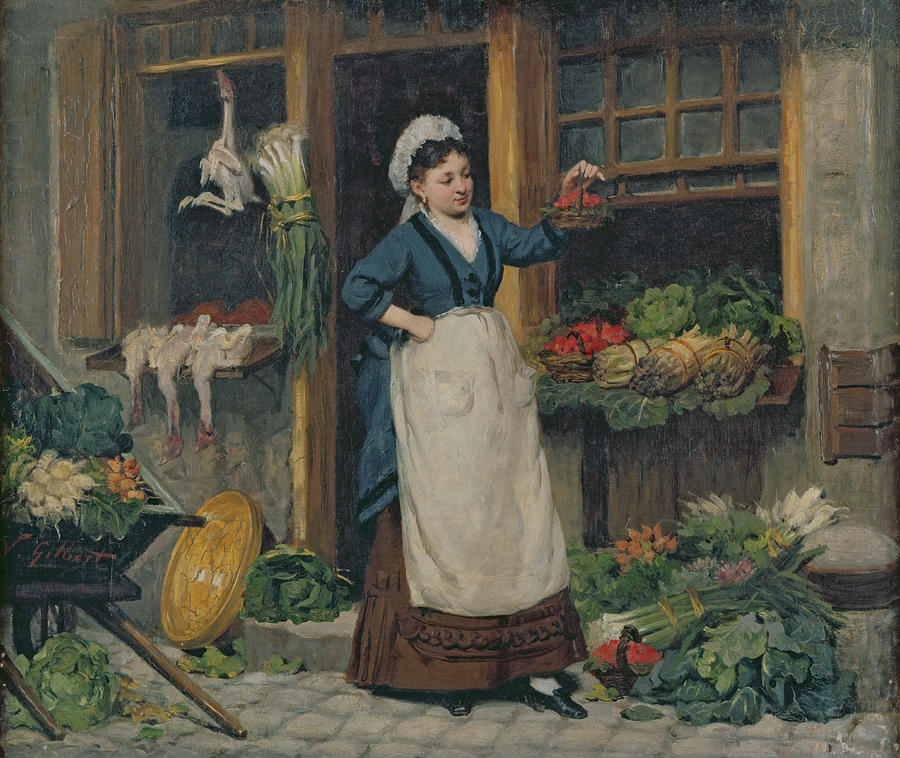 The Fruit Seller Painting