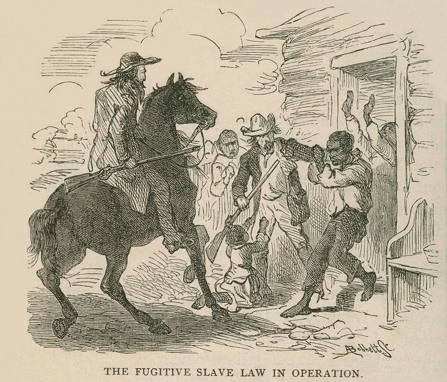 The Fugitive Slave Law In Operation Photograph