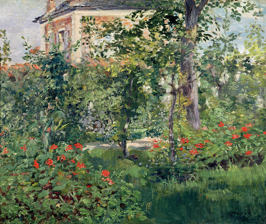 The Garden At Bellevue Painting