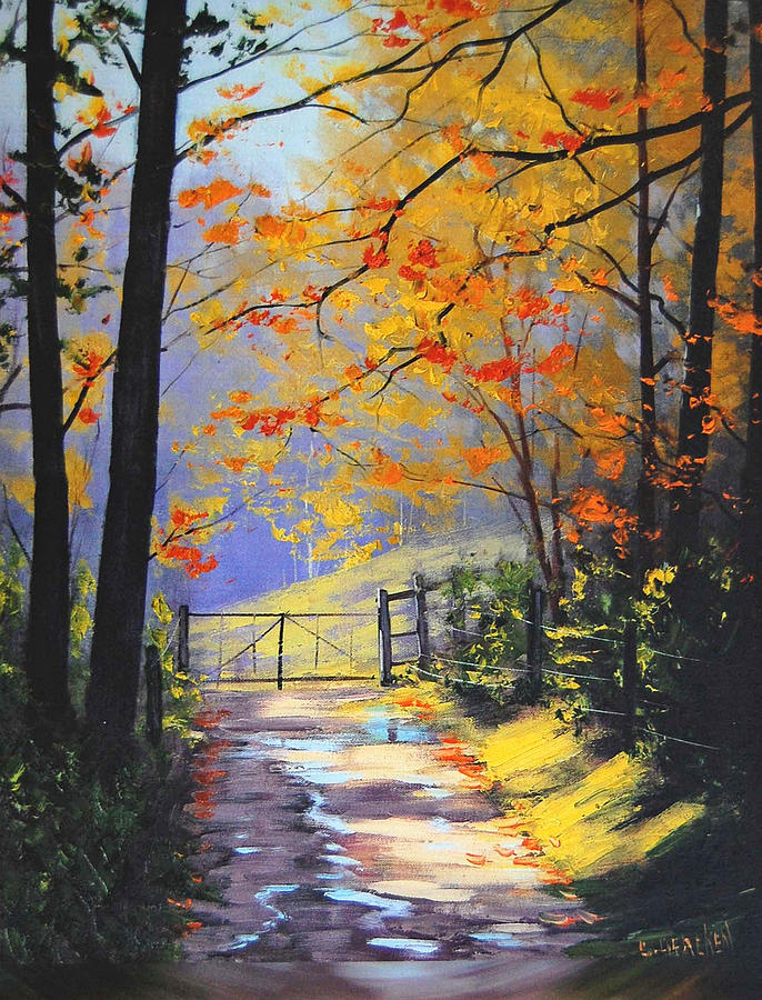 Fall Painting - The Gate by Graham Gercken