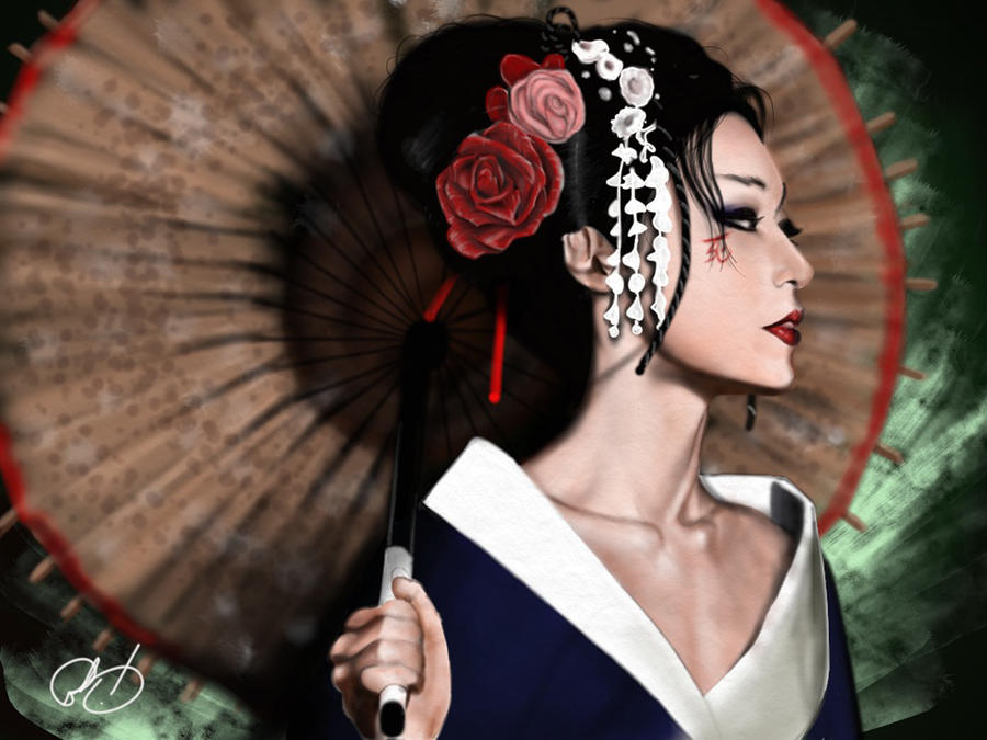 The Geisha Painting  - The Geisha Fine Art Print