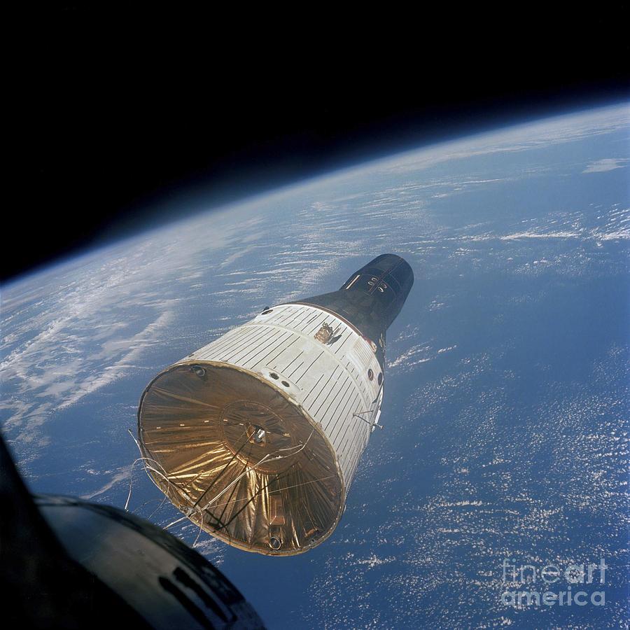 The Gemini-titan 7 Spacecraft In Earth by Stocktrek Images