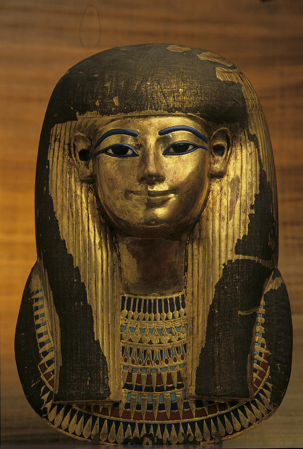 The Gilded Funerary Mask Of Tuts Photograph  - The Gilded Funerary Mask Of Tuts Fine Art Print