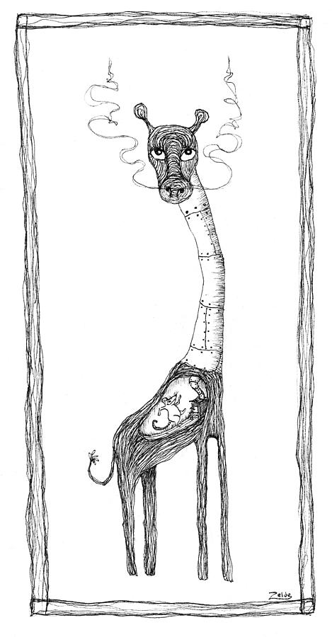 The Giraffe And The Rat Drawing