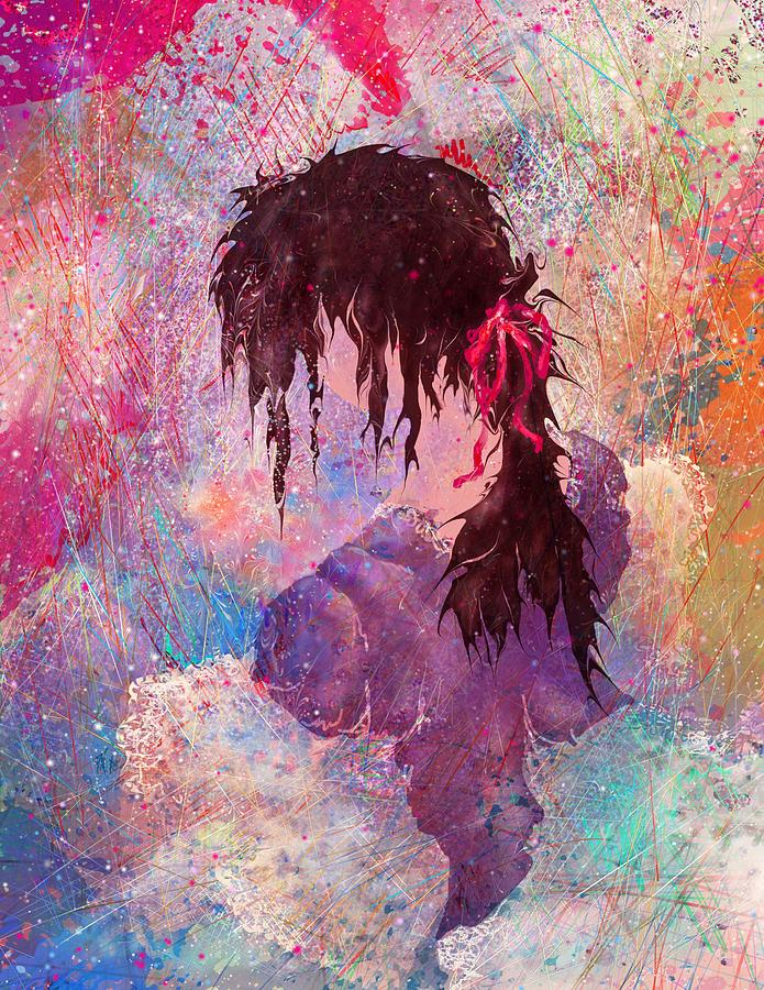 The Girl Of Many Colors Painting  - The Girl Of Many Colors Fine Art Print