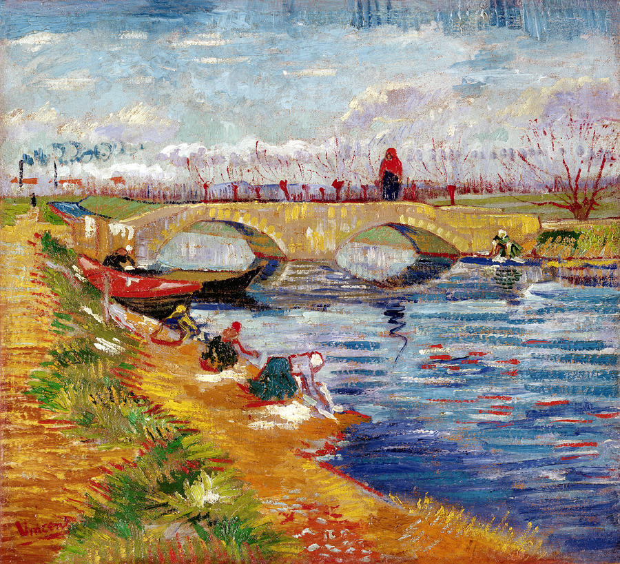 The Gleize Bridge Over The Vigneyret Canal  Painting  - The Gleize Bridge Over The Vigneyret Canal  Fine Art Print