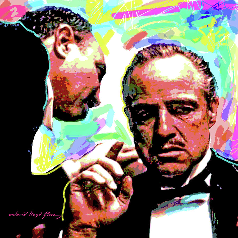The Godfather - Marlon Brando Painting  - The Godfather - Marlon Brando Fine Art Print