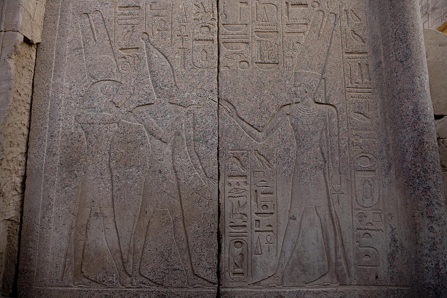 The Gods Horus And Amun Are Represented Photograph