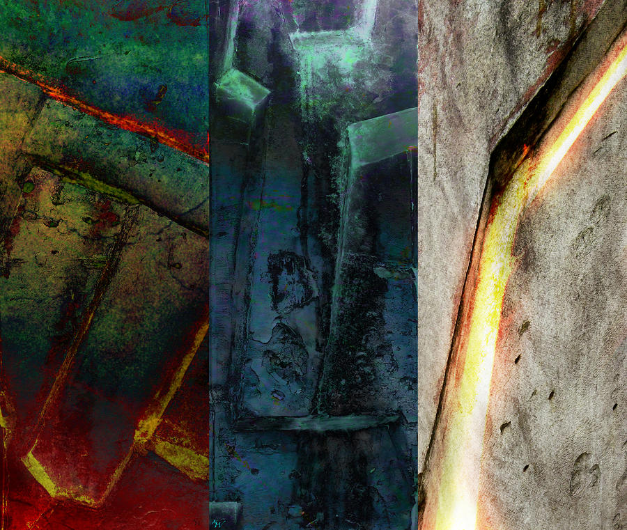 The Gods Triptych 1 Digital Art  - The Gods Triptych 1 Fine Art Print