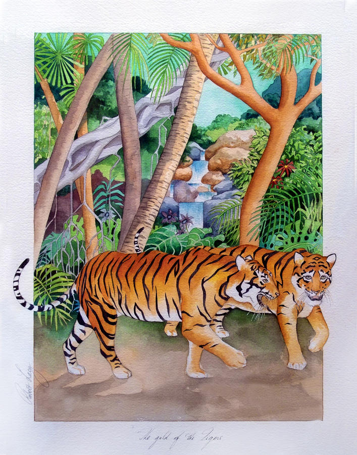 The Gold Of The Tigers Painting  - The Gold Of The Tigers Fine Art Print