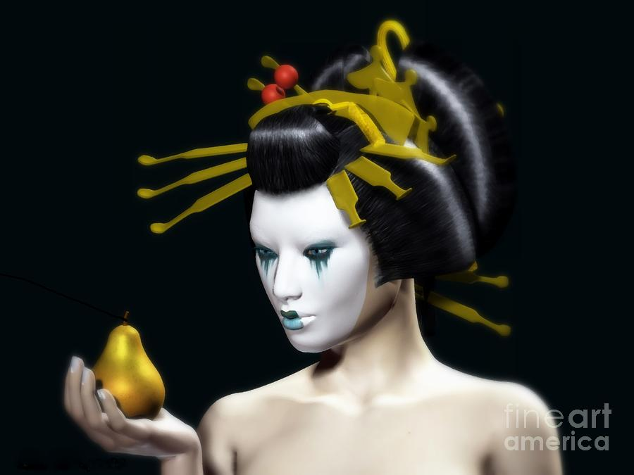 The Golden Pear Digital Art