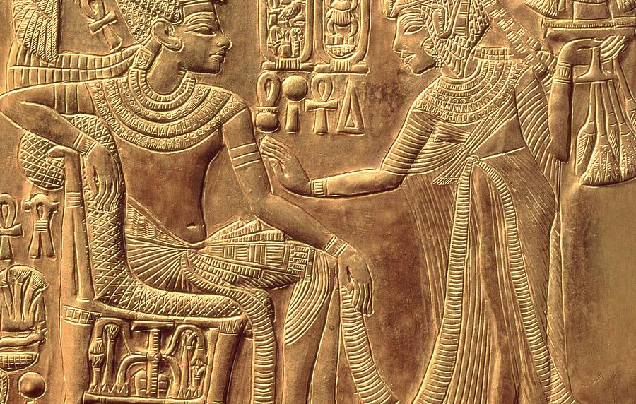 The Golden Shrine Of Tutankhamun Relief