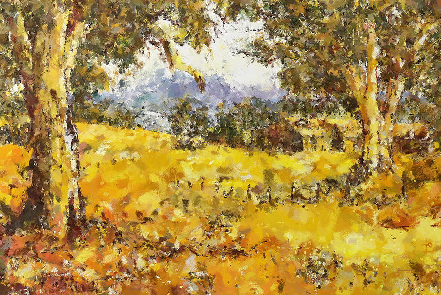 The Golden Valley Painting  - The Golden Valley Fine Art Print