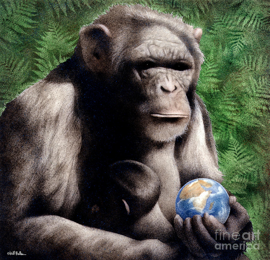 The Good Mother... Painting  - The Good Mother... Fine Art Print