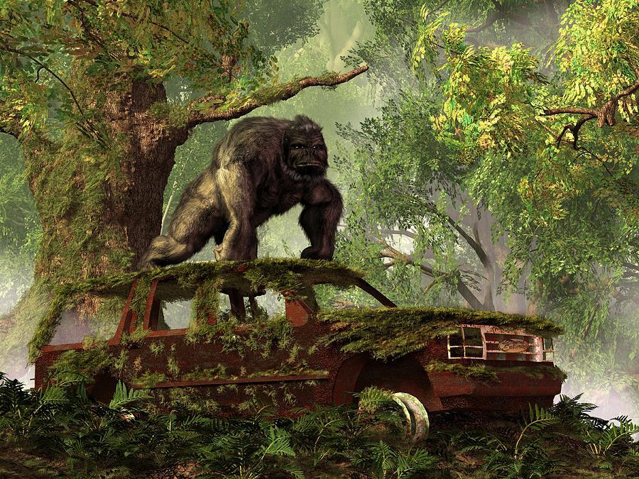 The Gorillas Suv Digital Art