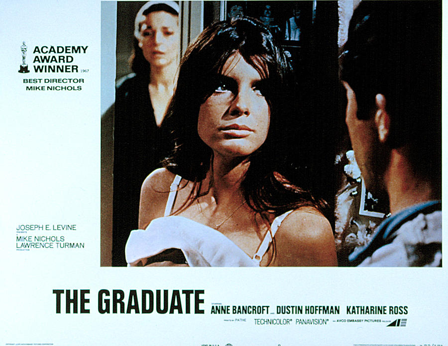 1960s Movies Photograph - The Graduate, Anne Bancroft, Katharine by Everett