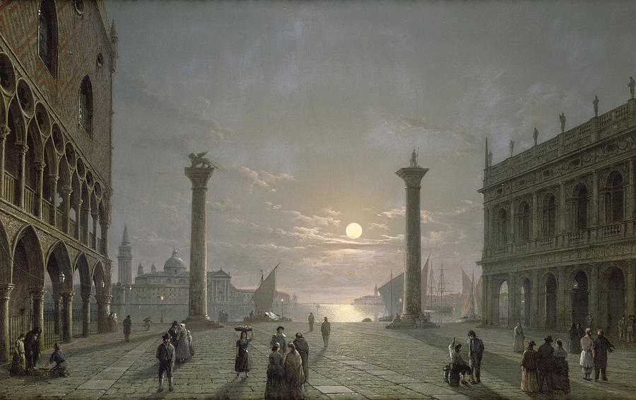 The Grand Canal From Piazza San Marco Painting