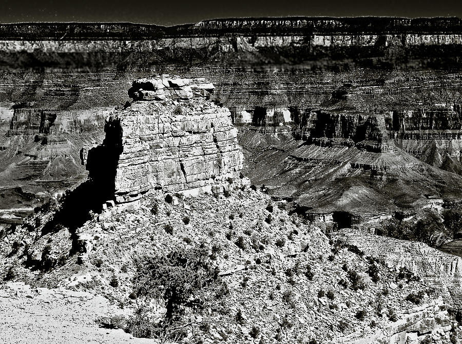 The Grand Canyon Bw Photograph  - The Grand Canyon Bw Fine Art Print