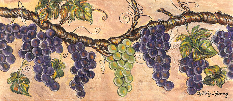 The Grapes Vine Painting  - The Grapes Vine Fine Art Print