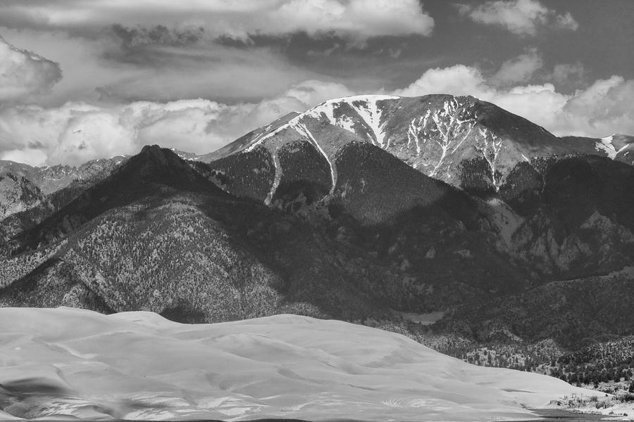 The Great Colorado Sand Dunes  125 Black And White Photograph  - The Great Colorado Sand Dunes  125 Black And White Fine Art Print