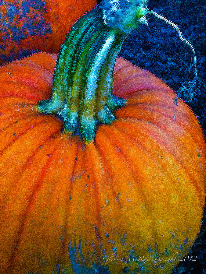Autumn Digital Art - The Great Pumpkin by Glenna McRae