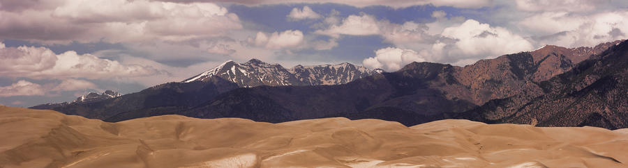 The Great Sand Dunes Panorama 1 Photograph  - The Great Sand Dunes Panorama 1 Fine Art Print