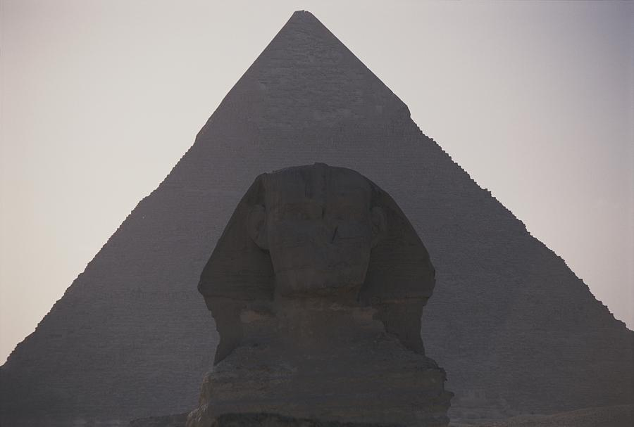 The Great Sphinx Is Framed Photograph