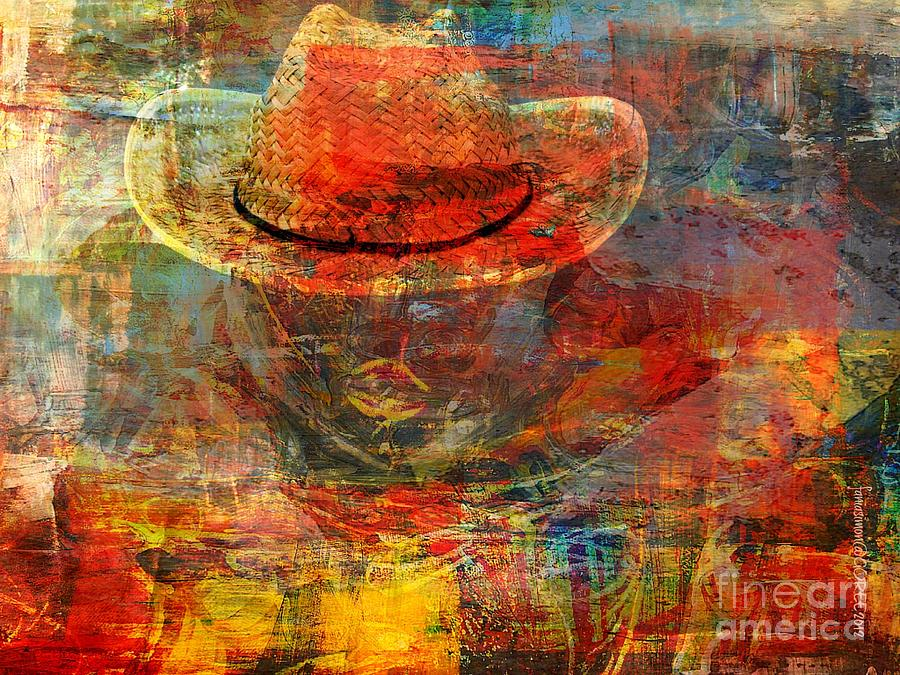 Fania Simon Painting - The Greatest Hope Is Not The Hat by Fania Simon