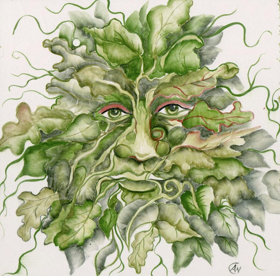 The Green Man Ceramic Art  - The Green Man Fine Art Print