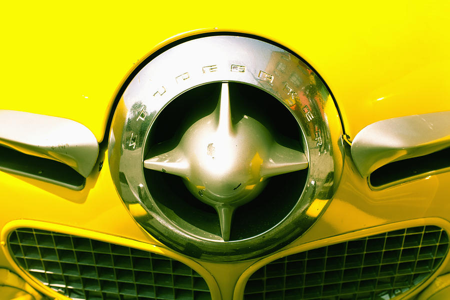 The Grill Of A Yellow Studebaker Car Photograph