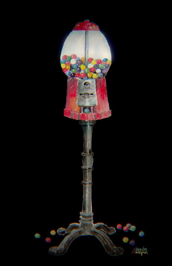 The Gumball Machine Mixed Media  - The Gumball Machine Fine Art Print