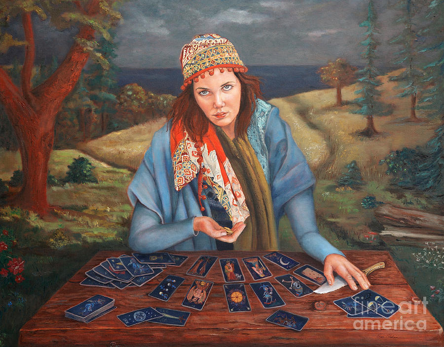 The Gypsy Fortune Teller Painting  - The Gypsy Fortune Teller Fine Art Print