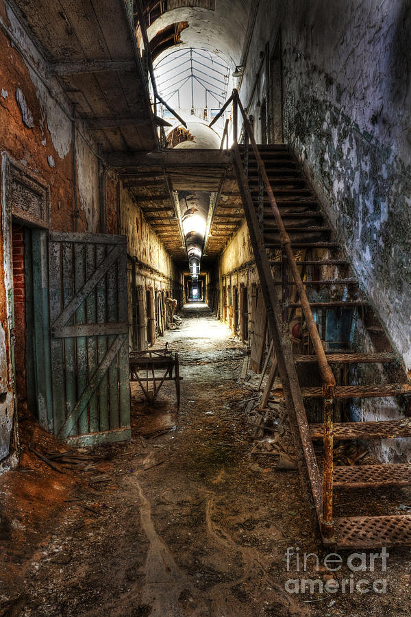The Hallway Of Broken Dreams - Eastern State Penitentiary - Lee Dos Santos Photograph