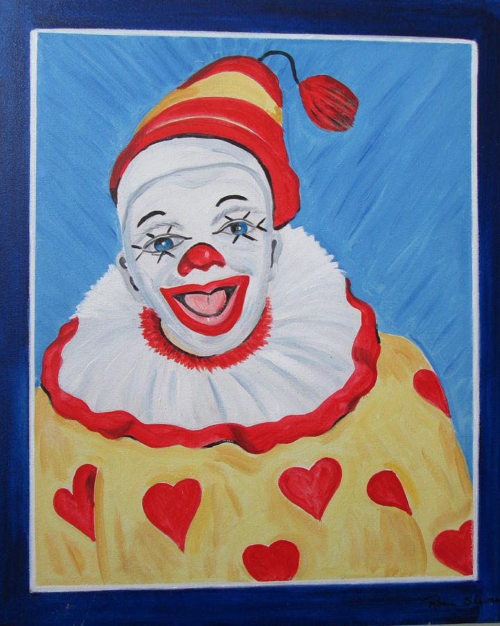 The Happy Clown Painting by Rosie Sherman - The Happy Clown Fine ...