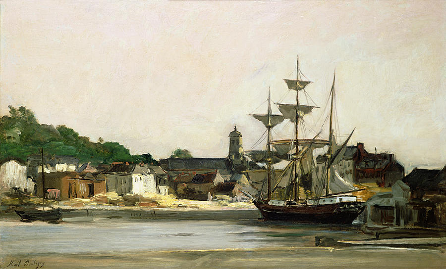 The Harbour At Honfleur Painting