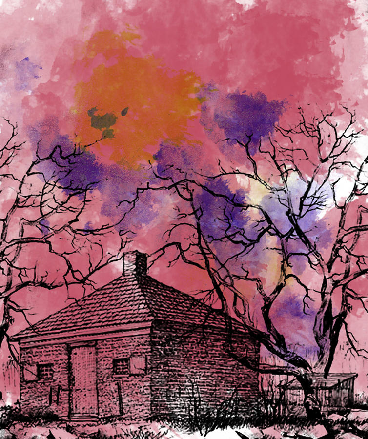The Haunted House Digital Art  - The Haunted House Fine Art Print