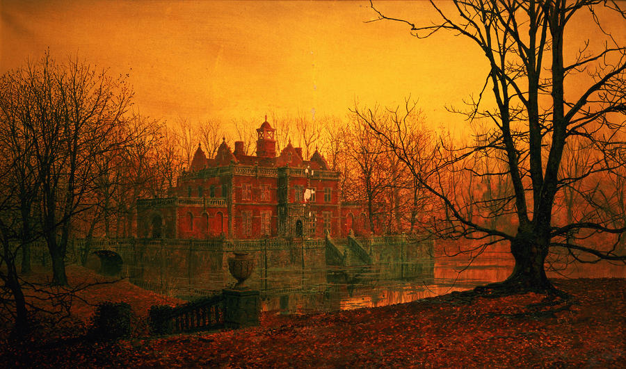 John Atkinson Grimshaw The Haunted House Painting