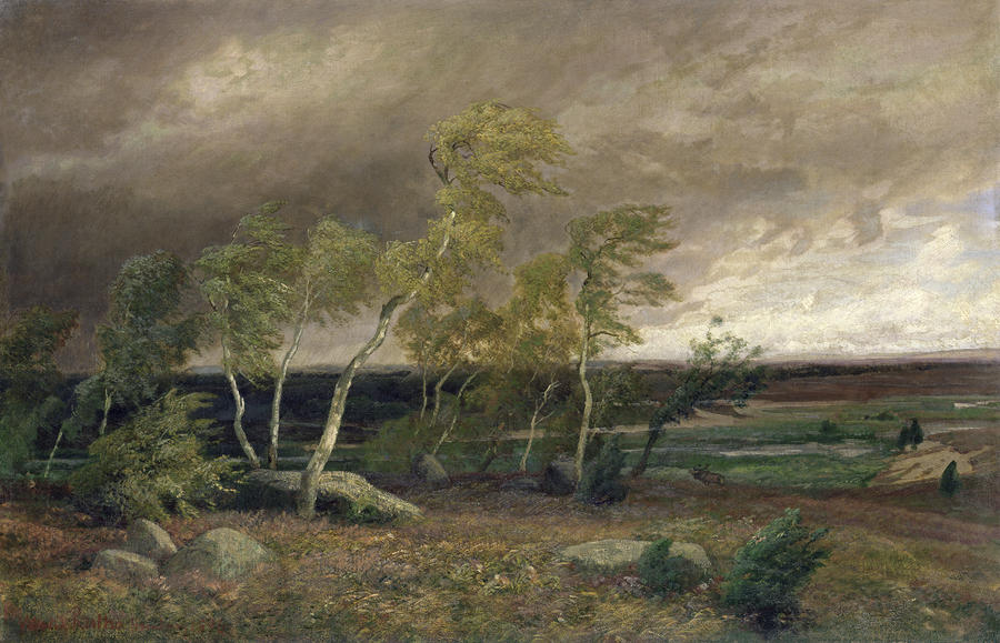 The Heath In A Storm Painting  - The Heath In A Storm Fine Art Print