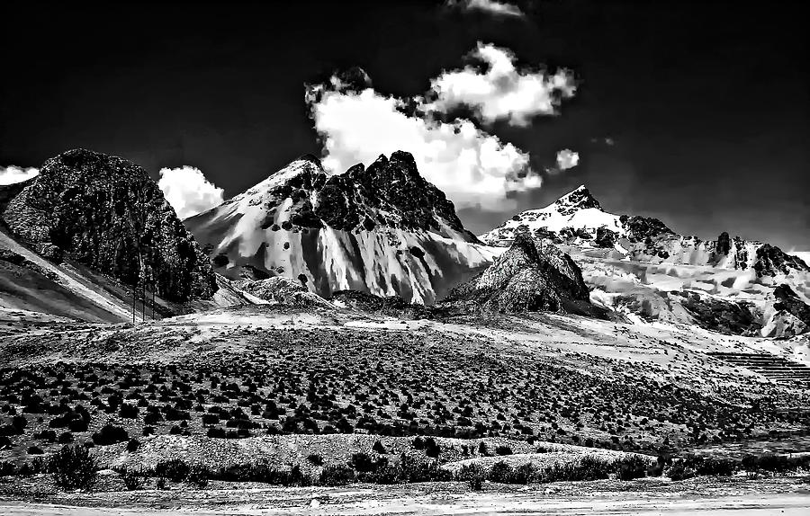The High Andes Monochrome Photograph