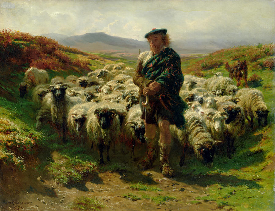 The Highland Shepherd Painting  - The Highland Shepherd Fine Art Print