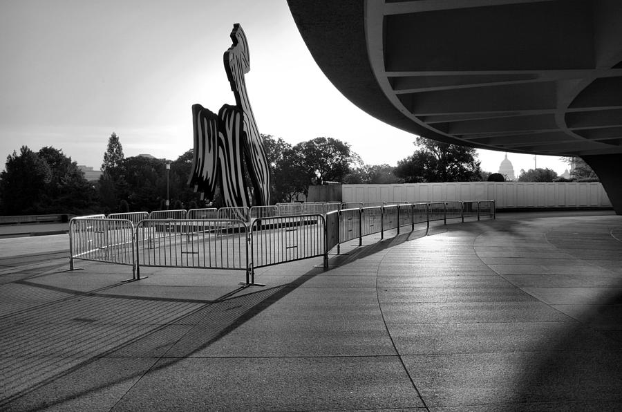 Architecture Photograph - The Hirshhorn Museum II by Steven Ainsworth