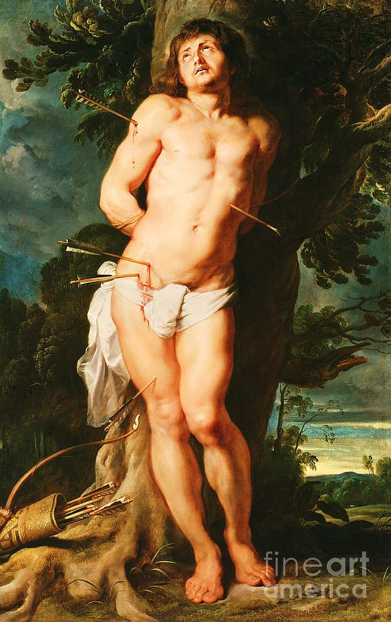 The Holy Saint Sebastian Painting  - The Holy Saint Sebastian Fine Art Print