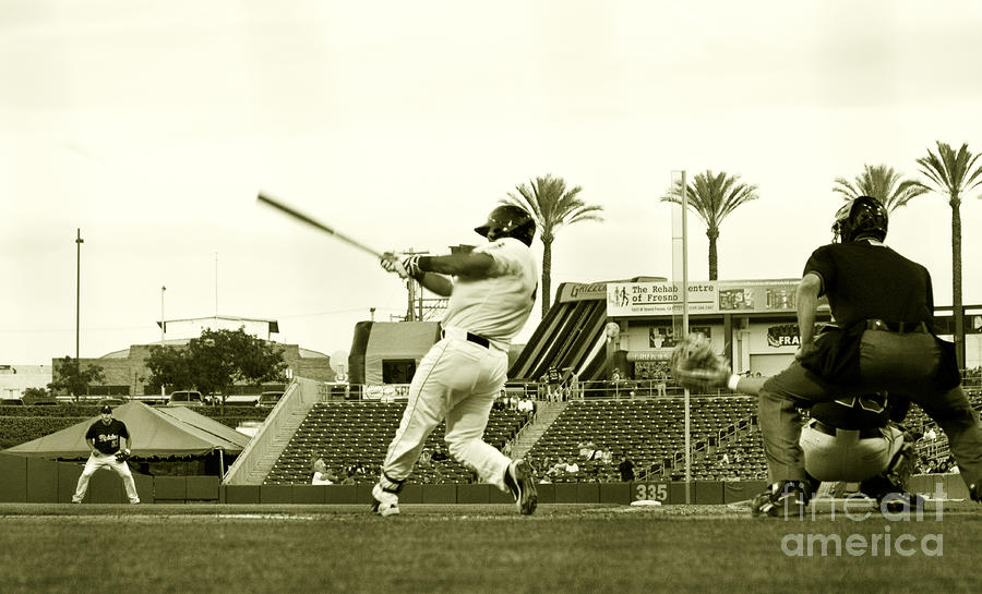 The Homerun Swing Photograph  - The Homerun Swing Fine Art Print
