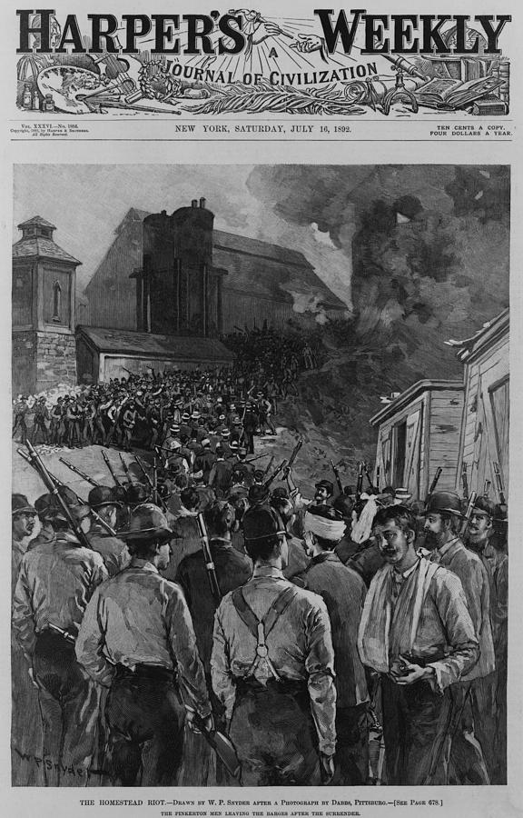 The Homestead Steel Strike Riot Photograph  - The Homestead Steel Strike Riot Fine Art Print